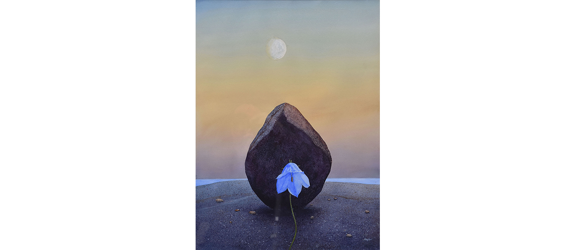 Bluebell And Moonrise